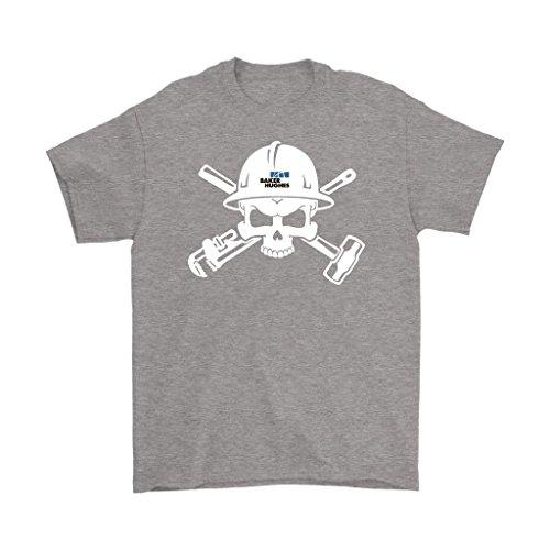 - Awesome eMERCHency Oilfield Shirts Baker Hughes Logo Skull In Helmet Mens T-Shirt (Sport Grey, XL)