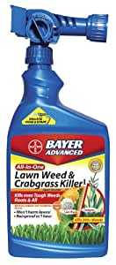 Bayer Advanced 704080 All-in-One Lawn Weed and Crabgrass Killer Ready-To-Spray, 32-Ounce