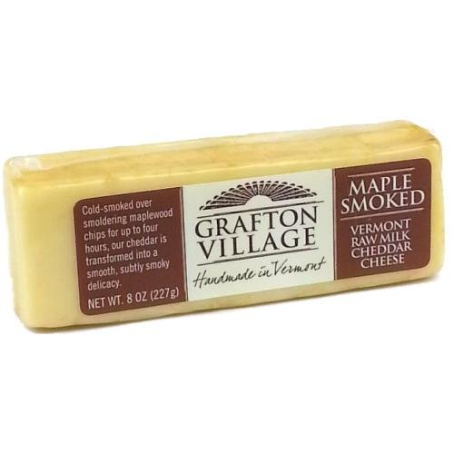 Maple Smoked Cheddar, 8 oz (4 pack) made in New England