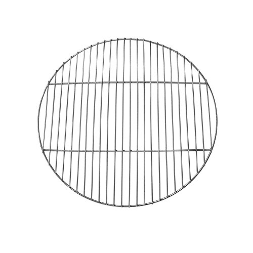 (Sunnydaze Chrome Plated Cooking Grate for Grilling, 24 Inch Diameter)