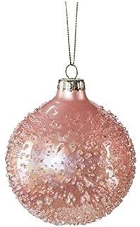 Christbaumkugeln Aubergine.Glas Weihnachtskugel Hänger 4 Stück Ca 8 Cm 4 Christbaumkugeln