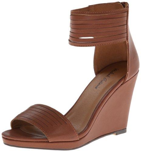 Michael Antonio Women's Alani Wedge Sandal,Cognac,7 M US