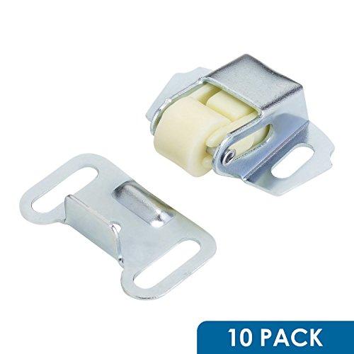 10 Pack Rok Hardware Roller Wheel Spring Cabinet Furniture Closet Door Catch Latch With Screws (Cabinet Roller)