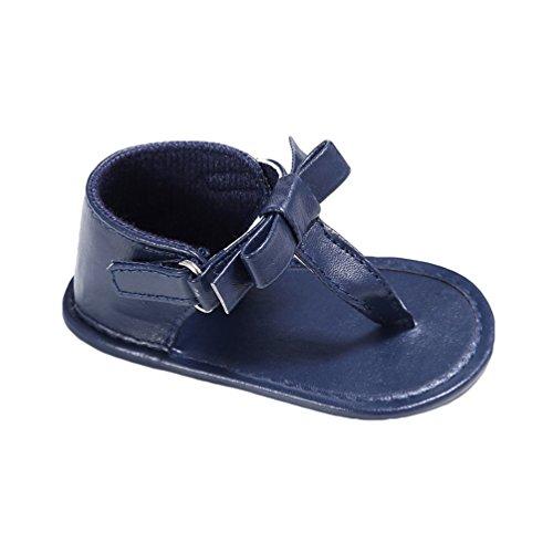 CHENGYANG Baby Schuhe Erste Schritte für Baby-Mädchen Lauflernschuhe Bowknot-Sandalen Rutschfest Blau