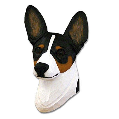 Rat Terrier Head Plaque Figurine Tri - Terrier Rat Figurine