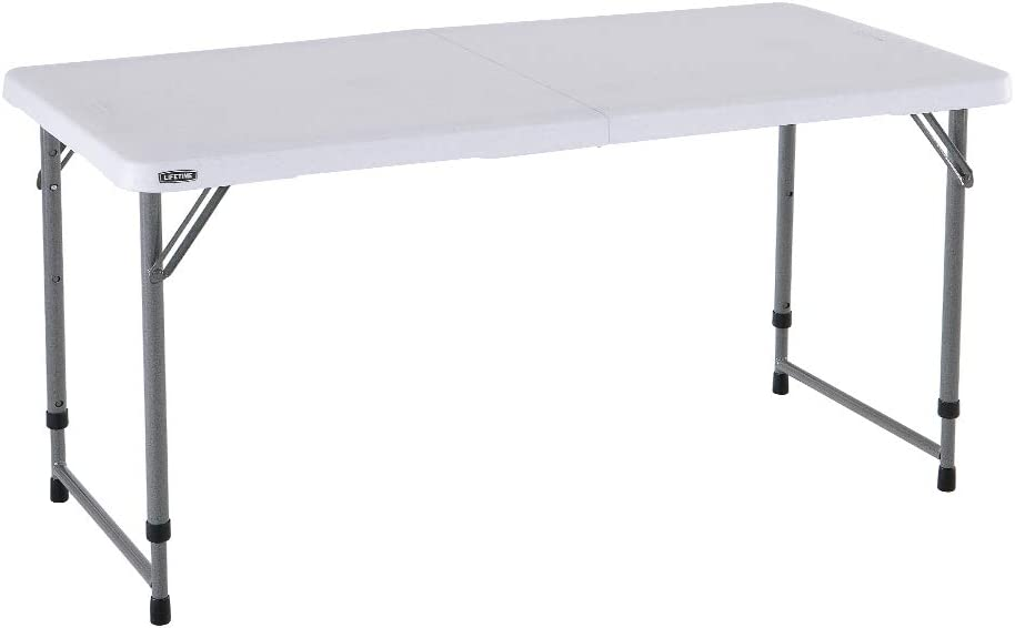LIFETIME 4428 - Mesa plegable multiusos ultrarresistente 122x61x56 - 91,5 cm UV100