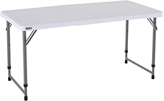 Lifetime 4428 Mesa plegable multiusos resistente UV100, blanco ...
