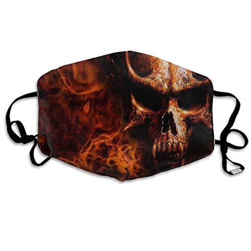 Zoe Diro Fashionable Flaming Skull Unisex Windproof Anti Dust Lip Mask Mouth Face Masks]()