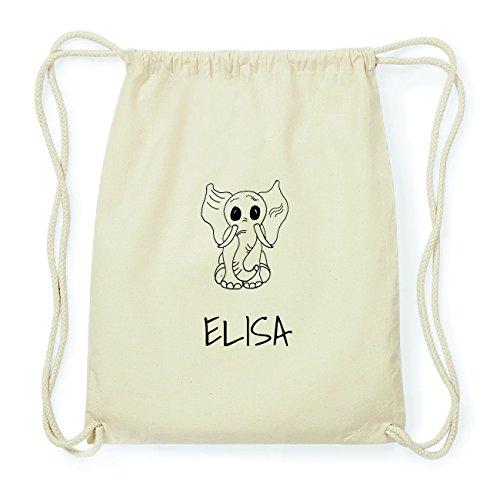 JOllipets ELISA Hipster Turnbeutel Tasche Rucksack aus Baumwolle Design: Elefant