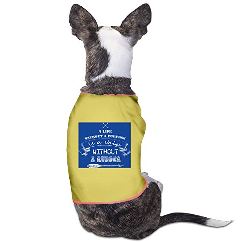 Dog Rocket Ship Costume (Custom Pet Custume A Life Without A Purpose Is A Ship Without A Rudder For Dogs Cat 100% Polyester)