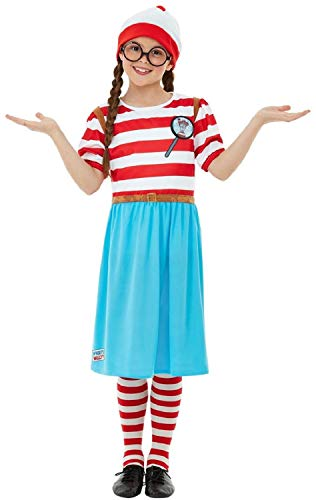 Girls Where's Wally Wenda Wendy World Book Day Week TV Film Cartoon Series Fun School Fancy Dress Costume Outfit (10-12 -