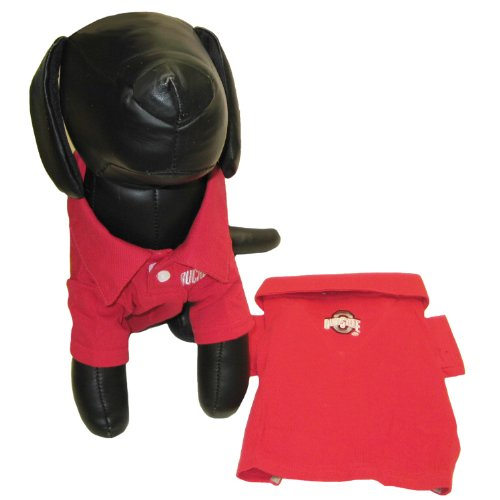 Pets First NCAA Ohio State University Dog Polo Shirt, Small
