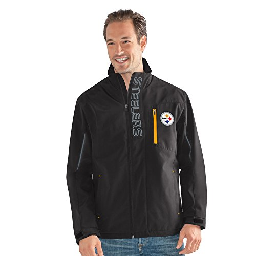 (G-III Sports NFL Pittsburgh Steelers Adult Men Energy Soft Shell Full Zip Jacket, Large, Black)