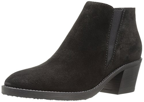 Aquatalia Womens Lillian Pebbled Suede Ankle Bootie Black