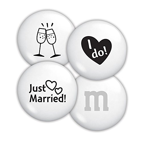 Just Married Custom M&M'S 2lb Bulk Candy Bag (Chocolate Personalized Wedding Bar Favors)