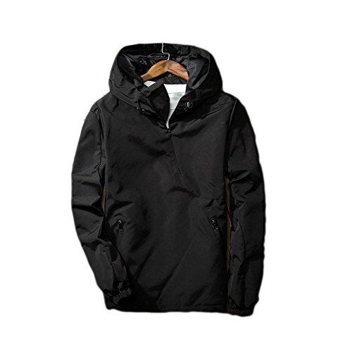 DUUMY épais manteau d'hiver veste minimaliste classique pour hommes , Black , XL
