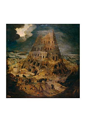 Toren Van - Spiffing Prints Pieter Bruegel The Elder - De Toren Van Babel - Extra Large - Matte - Framed