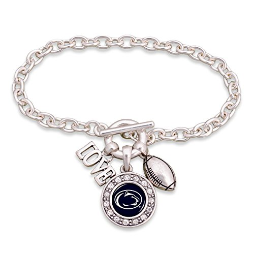 (FTH Penn State Nittany Lions Silver Tone Football and