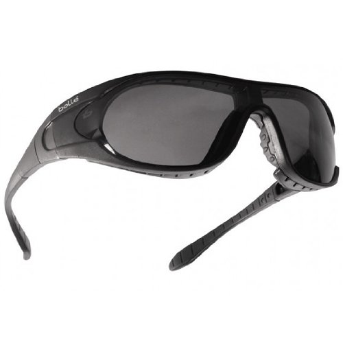 Bolle Raider Ballistic Spectacles - Clear, Smoke, Yellow Lens Black - Sunglasses With Prescription Inserts