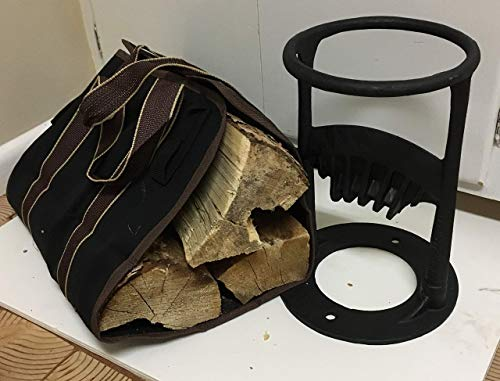 T&T Products Kindling Splitter - Cast Iron Firewood Log Splitter - Practical Wood Cracker with Free...
