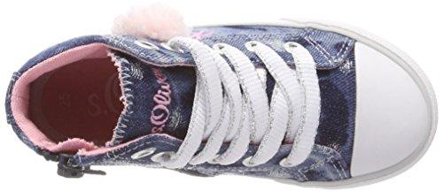 s.Oliver Mädchen 35201 Hohe Sneaker blau (denim comb)
