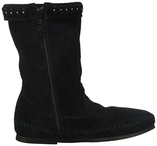 Minnetonka Fringe Black Luna Womens Boot Womens Luna Minnetonka Fringe qwY8x7tZ
