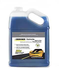 Karcher Concentrated Vehicle Detergent Car Wash & Wax Soap for Gas & Electric Pressure Washers