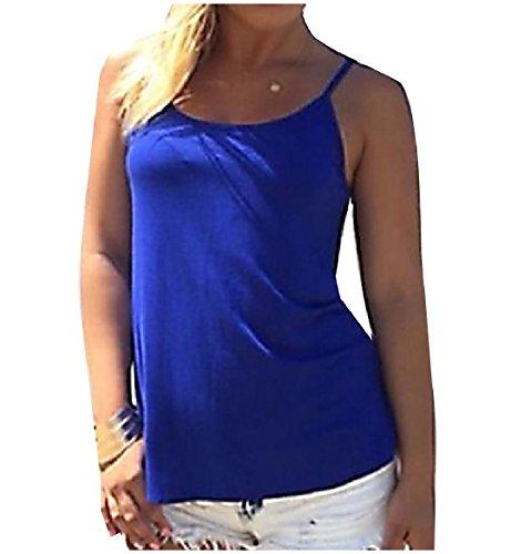水祝福するシリンダーTootess Womens Slim Fit Sling Cotton Solid Colored Backless Camisole