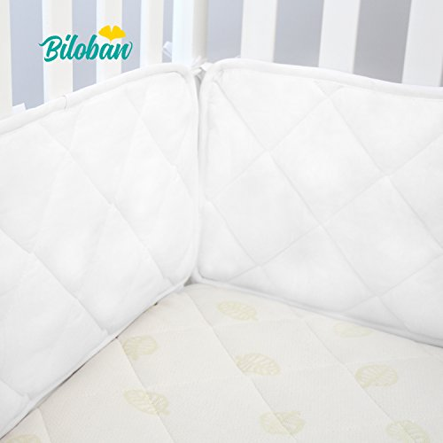 Biloban Safe Nursery Crib Bumper Pad, for Standard Size (52