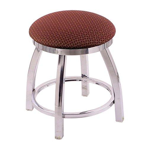 Holland Bar Stool Co. 802 Misha Vanity Stool with Chrome Finish and Swivel Seat, 18