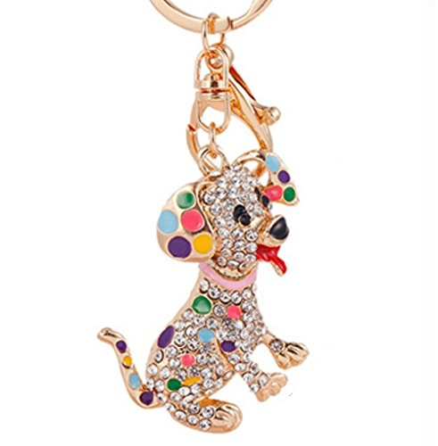 Stock Show 1Pc Lovely Fashion Rhinestone Pet Dog Collar Charm Accessory Poodle Keychain Key Chain Car Key Ring Sliver Plated Ornaments Pendant, Colorful (Best Collars For Poodles)