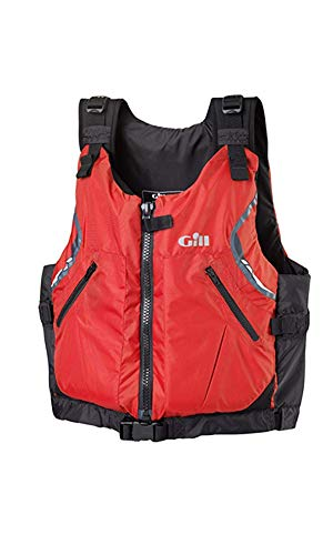 Gill USCG Approved Front Zip PFD Buoyancy Life Vest, Red, M/L