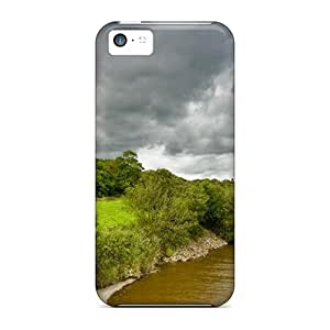 For Dana Lindsey Mendez Iphone Protective Case, High Quality For Iphone 5c Cardoness Castle By A River Skin Case Cover
