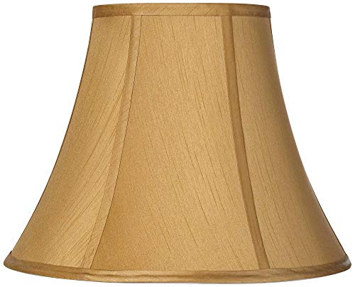 Coppery Gold Bell Lamp Shade 7x14x10.5 (Spider) - Springcrest
