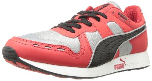 Puma Mens Rs 100 Aw Fashion Sneaker Grigio Calcare / Ad Alto Rischio Rosso / Nero