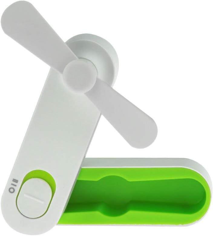 welltop Handheld Fan Mini USB Fan Portable Foldable Outdoor Fan Rechargeable Personal Cooling Fans 2 Speeds Desktop Table Fan for Home Office Travel – USB Powered Green