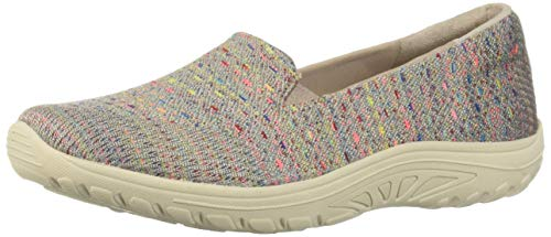 - Skechers Women's Reggae Fest-Wicker-Engineered Knit Twin Gore Slip On (Willows) Loafer Flat Taupe 9.5 M US