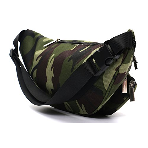 (SUNSEATON Fanny Pack, Waist Pack Sling Bag for Workout Traveling Casual Running Hiking Cycling - Camouflage)