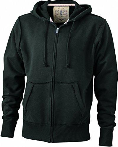 Black Vintage Hoody Giacca Men's Felpa In Wvqw4nH1R
