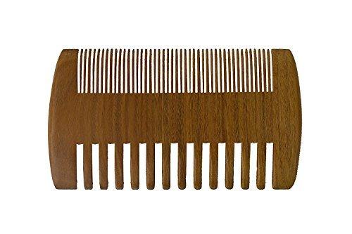 Rock Organic Bib (Mr Beard Comb | Pure 2 in 1 Sandalwood Pocket Comb | Cool Skin Beard Hair Follicles Treatment | Wide Fine Teeth | 1112)