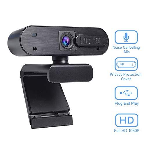 🥇 Webcam Anivia Full HD Webcam USB de 1080p con micrófono dual Cámara de 2MP Autofocus Cámara web HDR Videoconferencia y grabación de pantalla panorámica para computadora portátil Skype Stream Gaming