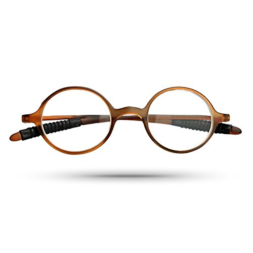Classic Vintage Unisex Round Reading Eyeglasses w/ Slim Frame in Matte Caramel - Stores In Mall Dartmouth