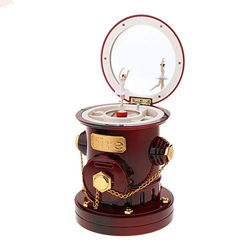 SM SunniMix Fairy Kids Musical Jewellery Money Box Coin Piggy Bank Fire Hydrant Design - Brown - Bank Fire Piggy Hydrant