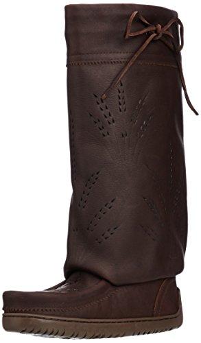 821519043629 - Manitobah Mukluks Women's Tall Gatherer Mukluk Winter Boot, Cocoa, 6 M US carousel main 0