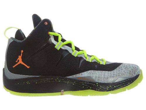 Jordan Super. Fly 2 Christmas Hombres Black / Total Orange-reflect Plata-metálico