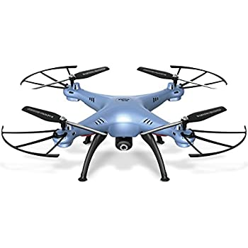 Cheerwing Syma X5HW-I Wifi FPV Drone with HD Camera Live Video Altitude Hold Function 2.4Ghz 4CH RC Quadcopter Blue
