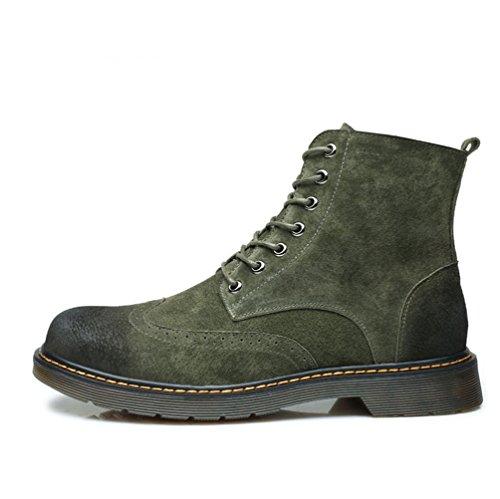 Boots Lacci Martin Retro Stivali Scarponcini Anfibi Militare Verde Camoscio Uomo Aumentato Stivaletti Inverno Fodera Interno YuanDian Antiscivolo Traspirante qO8BHnxwz