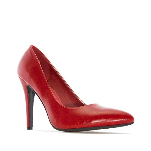 Andres Machado.AM5199.Salón en Soft. Tallas Pequeñas y Grandes 32/35-42/45. Para Mujer. Rojo