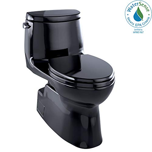 Toto MS614114CEF#51 Carlyle-2 One-Piece High-Efficiency Toilet, 1.28GPF, Ebony