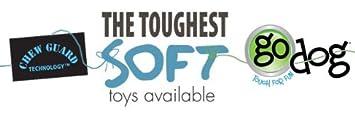 goDog Crazy Tugs Sasquatches with Chew Guard Technology Tough Plush Dog Toy